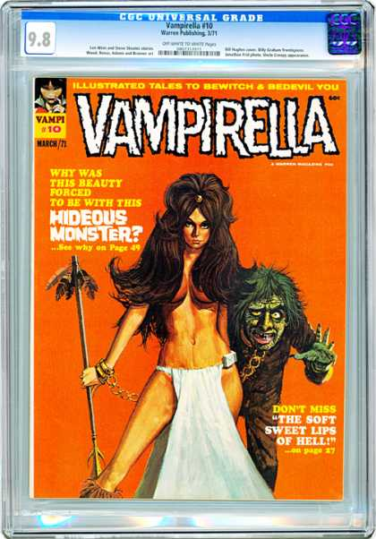 CGC Graded Comics - Vampirella #10 (CGC) - Vampirella - Hideous Monster - March 71 - Naked Woman - Chained