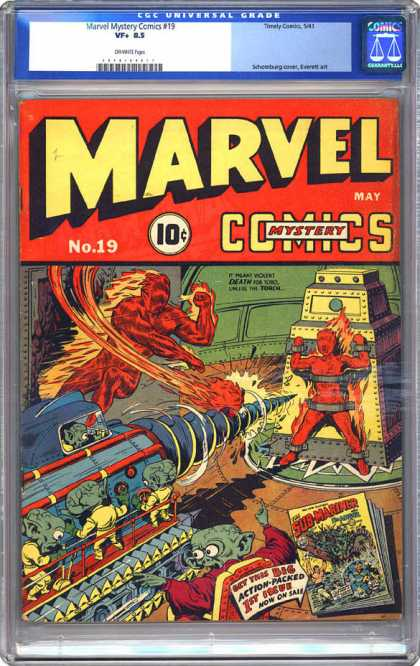 CGC Graded Comics - Marvel Mystery Comics #19 (CGC) - Marvel - Comics - Human Torch - Aliens - Machine