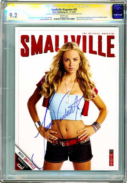 CGC Graded Comics - Smallville Magazine #23 (CGC) - Woman - Autograph - Glonxde - Belt - Jewelry