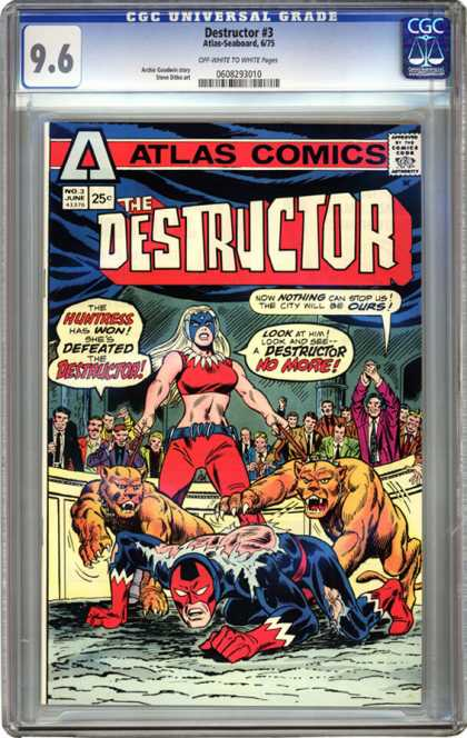 CGC Graded Comics - Destructor #3 (CGC) - Huntress - Destructor - Crowd - Panthers - City
