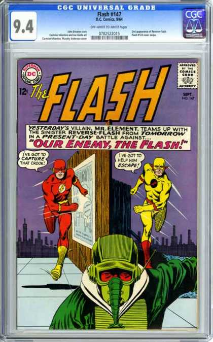 CGC Graded Comics - Flash #147 (CGC) - Mr Element - Reverse-flash - Capture - Escape - Battle