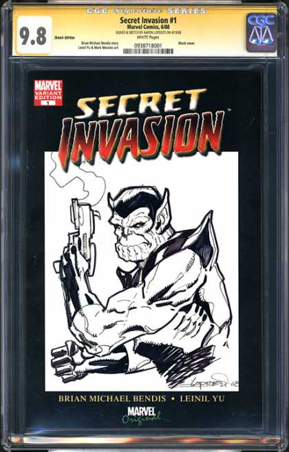 CGC Graded Comics - Secret Invasion #1 (CGC) - Secret Invasion 1 - Variant Edition 1 - Smoking Gun - Leinil Yu - Brian Michael Bendis