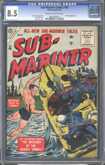 CGC Graded Comics - Sub-Mariner Comics #40 (CGC) - The Mystery Of The Secret Tunnel - All-new Sub-mariner Tales - Approved By The Comics Code - Sub-mariner - Commies