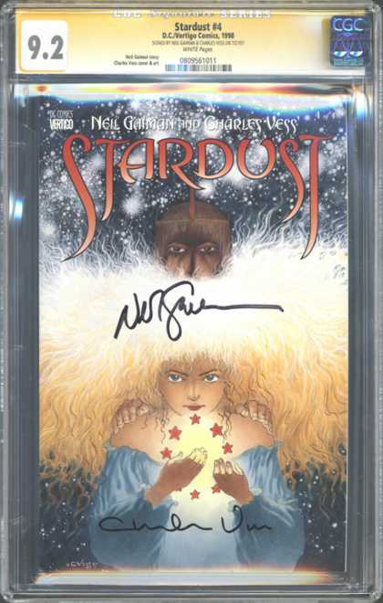 CGC Graded Comics - Stardust #4 (CGC) - Neil Gaiman - Charles Vess - Autograph - Gold Hair - Ring Of Stars