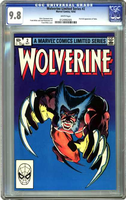 CGC Graded Comics - Wolverine Limited Series #2 (CGC) - Wolverine - Limited - Claws - Sky - Night