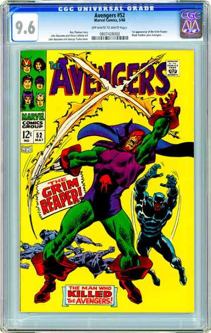 CGC Graded Comics - Avengers #52 (CGC) - Avengers - Marvel Comics - Approved By The Comics Code Authority - 52 May - The Grim Reaper