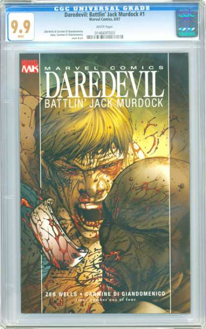 CGC Graded Comics - Daredevil: Battlin' Jack Murdock #1 (CGC) - Bloody Fight - Fight Of Rage - Most Extreme Fight - Fight To Live - Super-human Strength