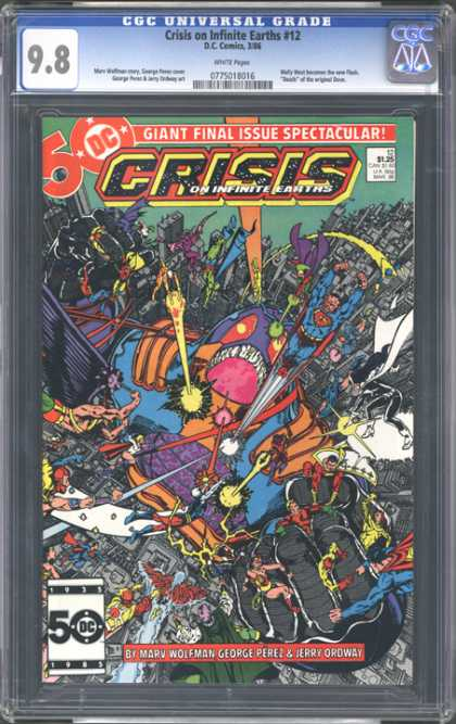 CGC Graded Comics - Crisis on Infinite Earths #12 (CGC) - Crisis - Superman - Monster - City - Laser