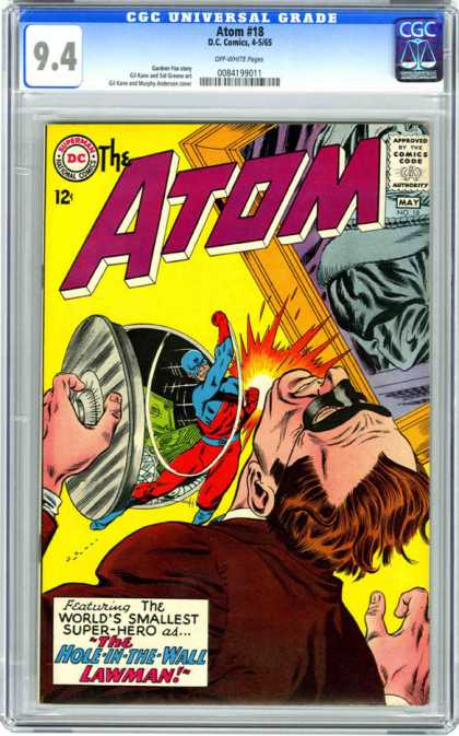 CGC Graded Comics - Atom #18 (CGC) - The Atom - Superman - National Comics - Approved By The Comics Code Authority - Lawman