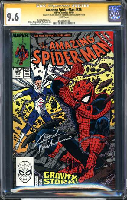 CGC Graded Comics - Amazing Spider-Man #326 (CGC) - Crazy Chains - Evil Villan - Superhero Battles Supervillan - White Caped Bad Guy - Webslinger