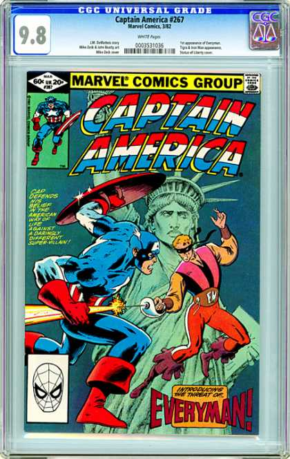 CGC Graded Comics - Captain America #267 (CGC) - Marvel - Captain America - Everyman - Larry Ekler - First Appearance