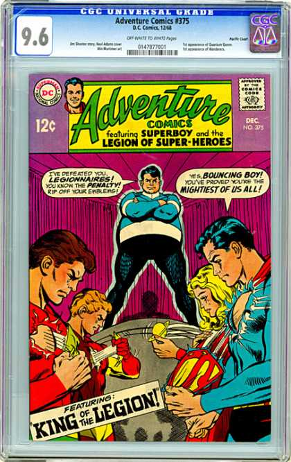 CGC Graded Comics - Adventure Comics #375 (CGC) - Superboy - King Of The Legion - Flash - Bounching Boy - Superman