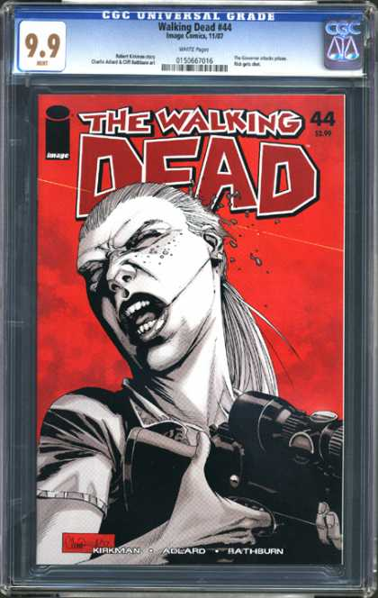 CGC Graded Comics - Walking Dead #44 (CGC) - The Walking Dead - Image Comics - Gun Scope - Kirkman - Adlard