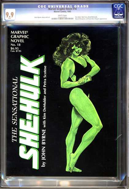 CGC Graded Comics - Marvel Graphic Novel #18 (CGC) - Marvel - She-hulk - Muscles - Woman - Bathing Suit