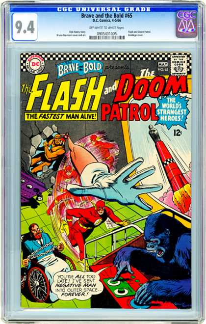 CGC Graded Comics - Brave and the Bold #65 (CGC) - The Flash - The Doom Patrol - Fastest Man Alive - The Worlds Strangest Heroes - Dc