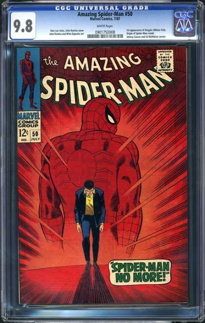 CGC Graded Comics - Amazing Spider-Man #50 (CGC) - Back - Away - Leaving - No More - Sorrow