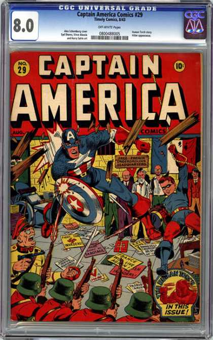 CGC Graded Comics - Captain America Comics #29 (CGC)