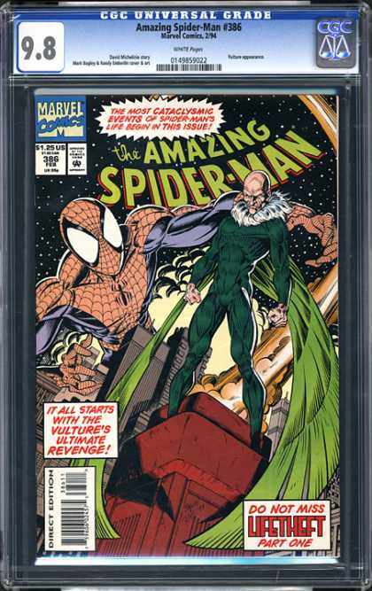 CGC Graded Comics - Amazing Spider-Man #386 (CGC) - Marvel - Marvel Comics - Spider-man - Vulture - Mark Bagley