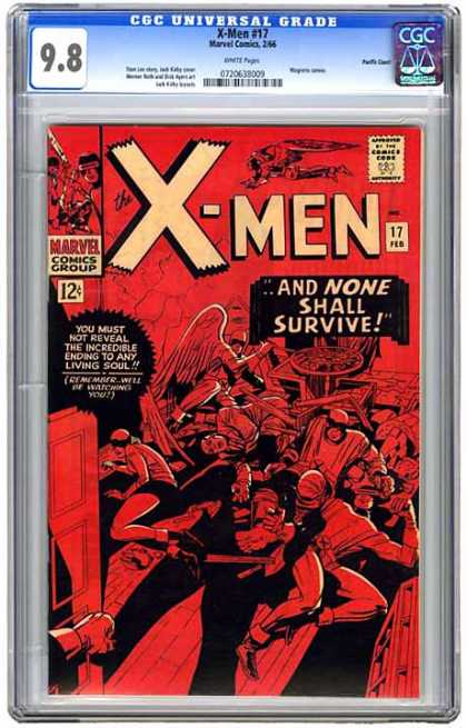 CGC Graded Comics - X-Men #17 (CGC) - Fighting - People - Table - Sword - Shadow