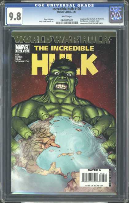 CGC Graded Comics - Incredible Hulk #106 (CGC) - World War Hulk - The Incredible Hulk - 106 - 98 - Revel Comics