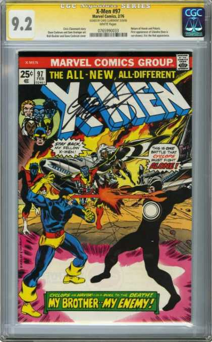 CGC Graded Comics - X-Men #97 (CGC) - Signed - Cgc Signature Series - Marvel Comics Group - The All- New All- Different X-men - My Brother My Enemy