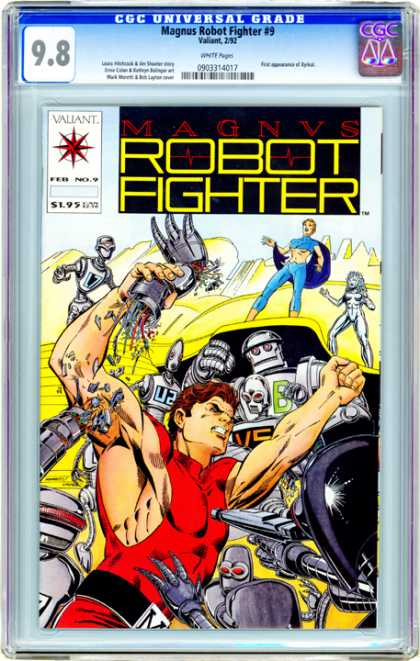CGC Graded Comics - Magnus Robot Fighter #9 (CGC) - Robots - Muscle Man - Blue Cape - Laser Gun - Black Belt