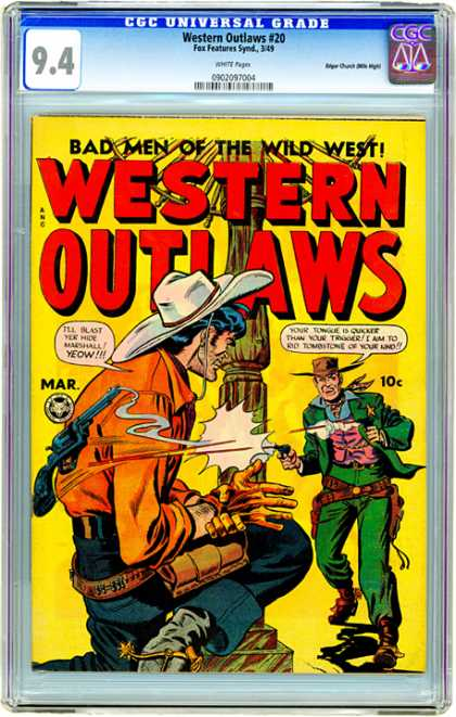 CGC Graded Comics - Western Outlaws #20 (CGC)