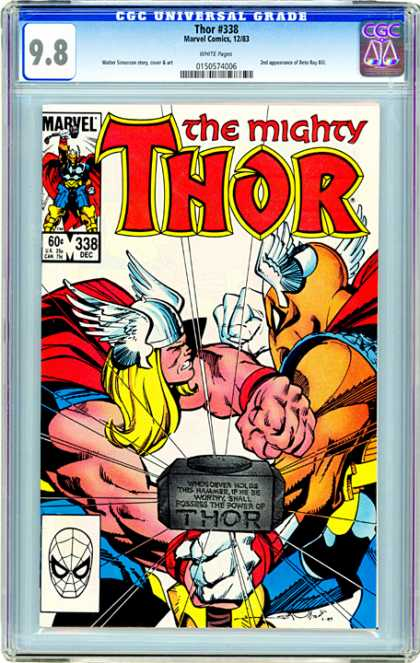 CGC Graded Comics - Thor #338 (CGC) - Thor - Marvel - 338 Dec - Mask - Fight