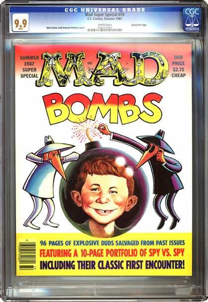 CGC Graded Comics - Mad Super Special #59 (CGC) - Which Spy Will Win - A Must Have - Caution May Be Hazardous - Will Our Favorite Spys Ever Be Friends - Explosive