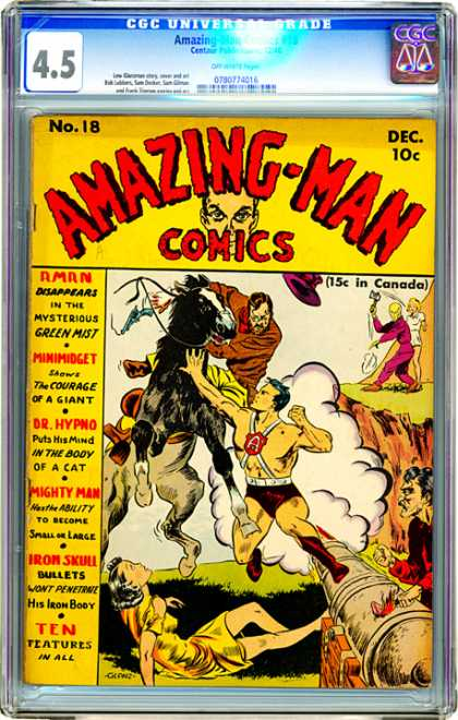 CGC Graded Comics - Amazing-Man Comics #18 (CGC)