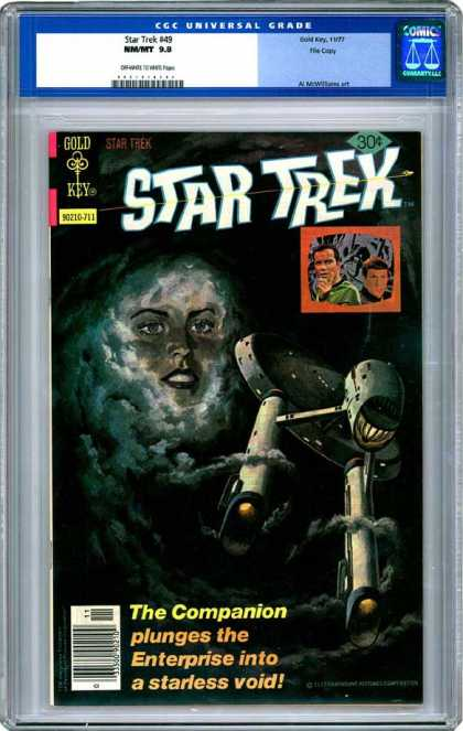 CGC Graded Comics - Star Trek #49 (CGC) - Companion - Enterprise - Void - Gold - Key