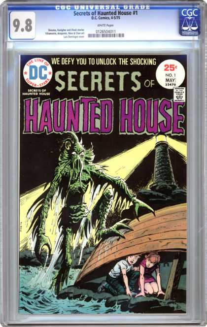CGC Graded Comics - Secrets of Haunted House #1 (CGC)