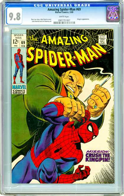 CGC Graded Comics - Amazing Spider-Man #69 (CGC) - Kingpin - Amazing - Universal Grade - Marvel - Crush