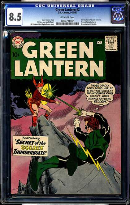CGC Graded Comics - Green Lantern #2 (CGC) - Dc - Dc Comics - Green Lantern - Thunderbolts - Power Ring