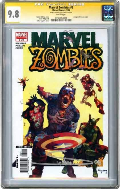 CGC Graded Comics - Marvel Zombies #4 (CGC) - Marvel Zombies - Marvel Comics - Phillips - Chung - Rated