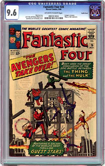 CGC Graded Comics - Fantastic Four #26 (CGC) - Fantastic Four - The Invisible Woman - Mr Fantastic - The Thing - The Human Torch