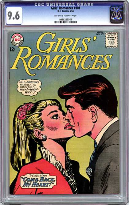 CGC Graded Comics - Girls' Romances #101 (CGC) - Dc - Kiss - Come Back My Heart - Girls Romances - Couple
