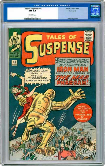 CGC Graded Comics - Tales of Suspense #44 (CGC) - Tales Of Suspense - Iron Man - The Mad Pharoah - Cleopatra - Siren Of The Nile