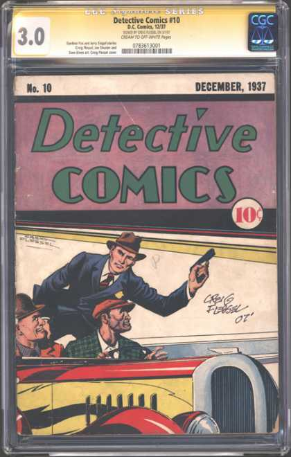 CGC Graded Comics - Detective Comics #10 (CGC) - Bank Hold Em Duo - 47th Place Robbery - Race Robbery - Detective Mange - Get Em Boys