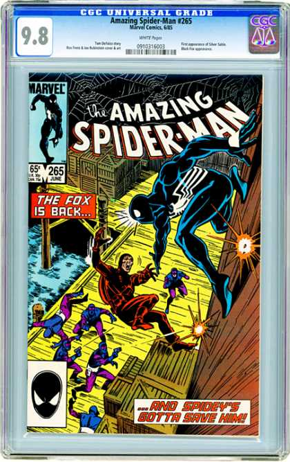 CGC Graded Comics - Amazing Spider-Man #265 (CGC) - Spiderman Nemesis - Spider Web - Docks - Wall Climbing - Shots Fired