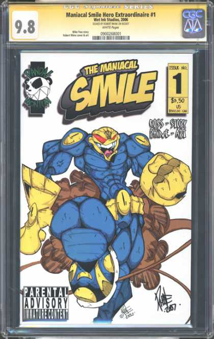 CGC Graded Comics - Maniacal Smile Hero Extraordinaire #1 (CGC)