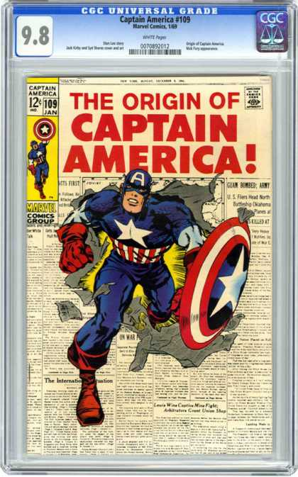 CGC Graded Comics - Captain America #109 (CGC)