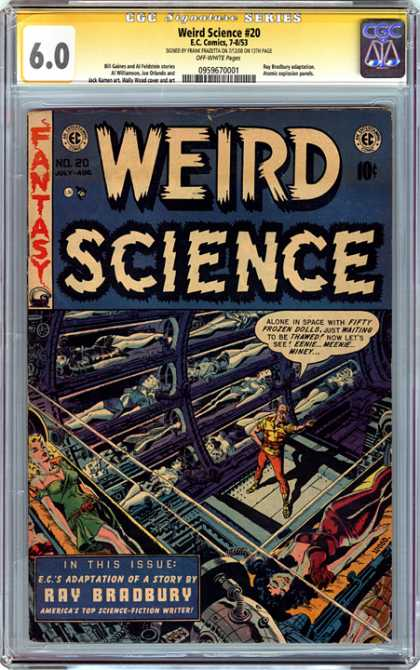 CGC Graded Comics - Weird Science #20 (CGC) - Weird Science - Fantasy - Frozen - Dolls - Ray Bradbury