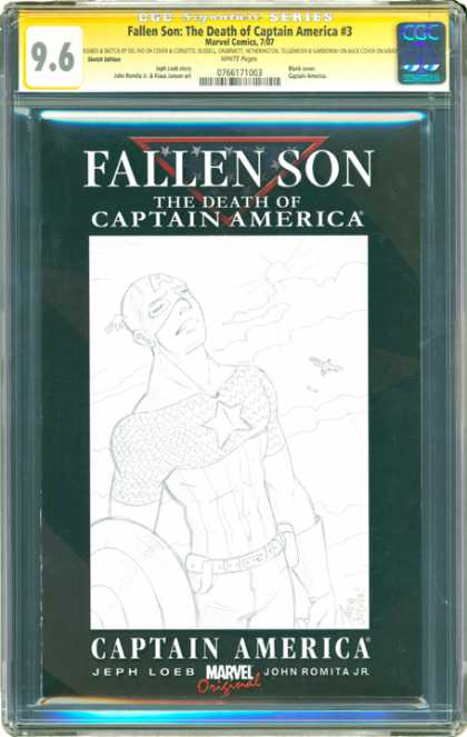 CGC Graded Comics - Fallen Son: The Death of Captain America #3 (CGC)