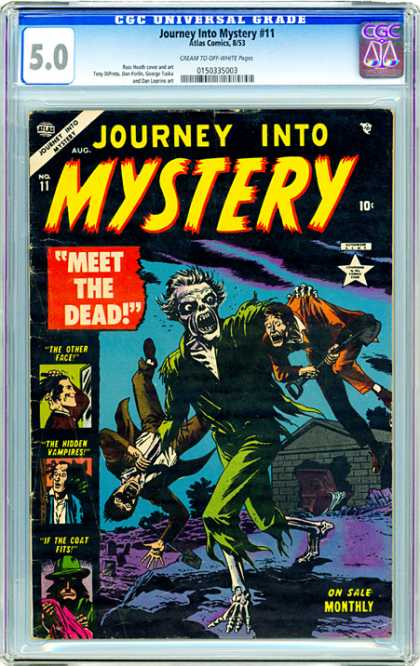 CGC Graded Comics - Journey Into Mystery #11 (CGC) - Come With Me - Going Somewhere - You Wont Be Coming Back - Looking For Something - Your Friend Seems Scared