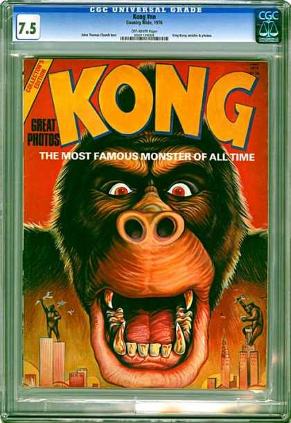 CGC Graded Comics - Kong #nn (CGC) - Monkey - Monster - Giant - City - Skyscrapers