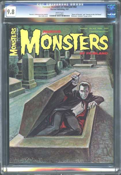 CGC Graded Comics - Famous Monsters of Filmland #43 (CGC) - Vampire - Dracula - Crypt - Graveyard - Coffin