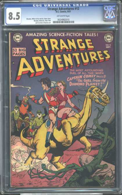 CGC Graded Comics - Strange Adventures #12 (CGC) - Jurassic Zoom - Dinosaurs-a-go-go - Future World - Lost Ages - World Ahead