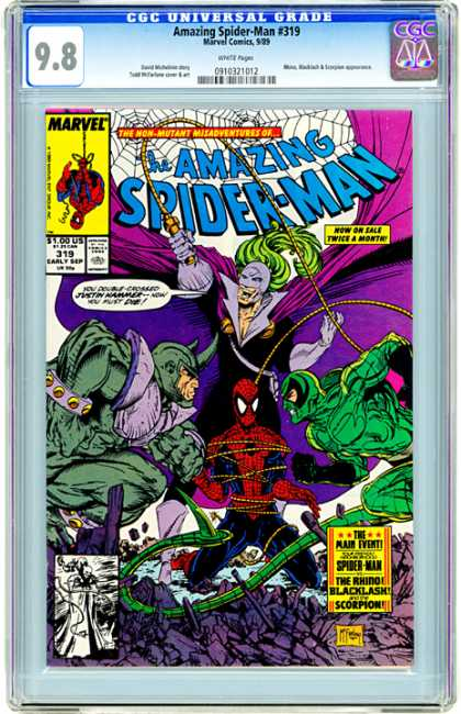 CGC Graded Comics - Amazing Spider-Man #319 (CGC) - What Will He Do Next - Spider-man Vs Villians - Can Anyone Beat Him - Dark And Dangerous - The Man