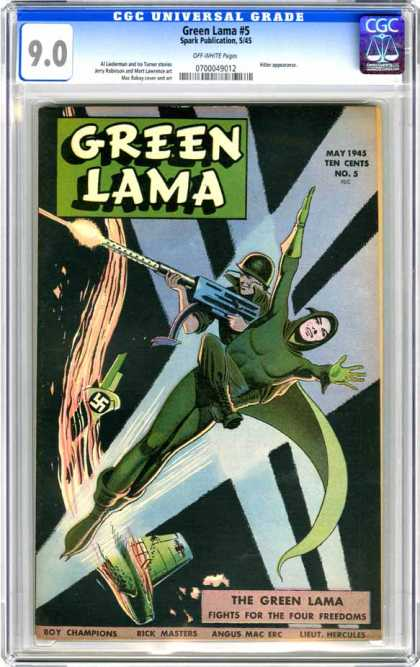 CGC Graded Comics - Green Lama #5 (CGC)